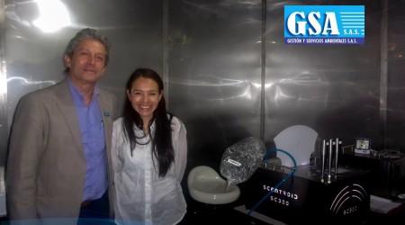 Una grata visita de la Ingeniera María del Carmen Cabeza